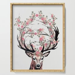 Deer and Flowers Serving Tray