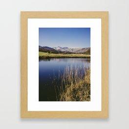 langdale pikes. elterwater, lake district, uk Framed Art Print
