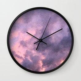 cloud mosaic Wall Clock