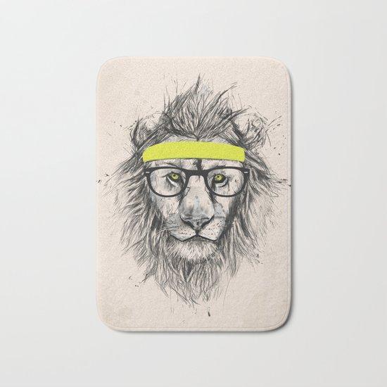 Hipster lion (light version) Bath Mat