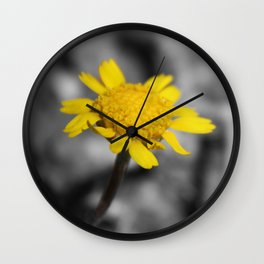 The Yellow Flower Wall Clock