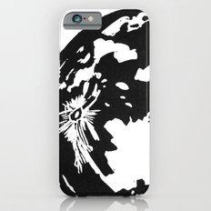 Full Moon black and white lino print Slim Case iPhone 6s