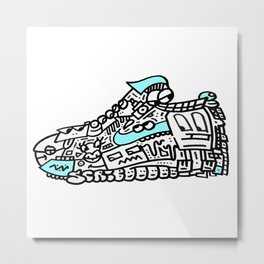 Air Max Scribblez Shoe - Mr Scribblez Metal Print