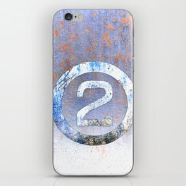 Bold Number 2 iPhone Skin