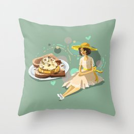 Ice Cream Sandwich With Pineapple and Coconut Throw Pillow