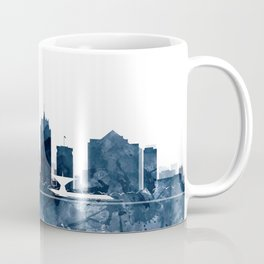 Milwaukee Skyline Blue Watercolor by ZouzounioArt Coffee Mug