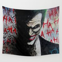 joker Wall Tapestries featuring joker by Lyxy
