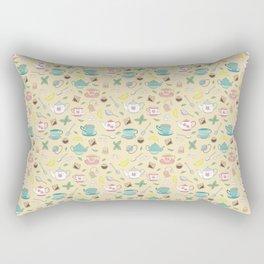 Pretty Vintage Teacups Afternoon Tea Pattern Rectangular Pillow