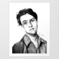 ezra koenig Art Prints featuring Ezra Koenig by annelise johnson