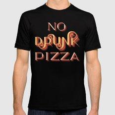 No Drunk Pizza MEDIUM Mens Fitted Tee Black