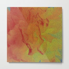 Flower | Flowers | Fading Flower | Red Abstract Metal Print