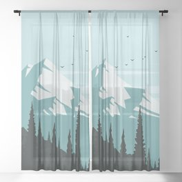 Winter Landscape Sheer Curtain