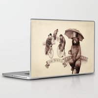 bicycles Laptop & iPad Skins featuring Bears on Bicycles by Eric Fan