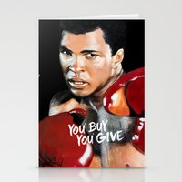 ali gulec Stationery Cards featuring ALI 4 by YBYG