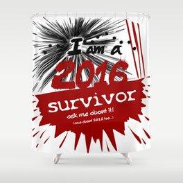 2016 survivor Shower Curtain