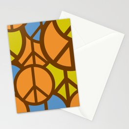Cool Colorful Groovy Peace Symbols #society6 #decor #buyart #artprint Stationery Cards