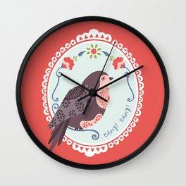 Signorina Pettirosso Wall Clock