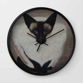 The Siamese Cat Wall Clock