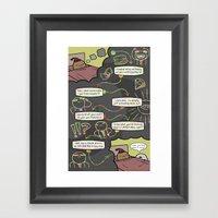 Antics #352 - wormtongue junior Framed Art Print