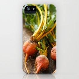 Rustic Golden Beets iPhone Case