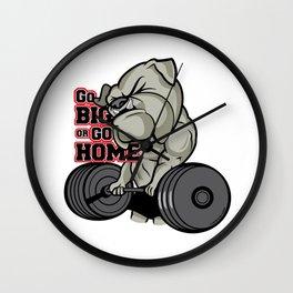 Bulldog Strong Wall Clock
