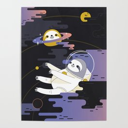 Planet Sloth Poster