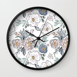 Indy Bloom Design Periwinkle Rose Wall Clock