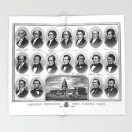 American Presidents - First Hundred Years Throw Blanket