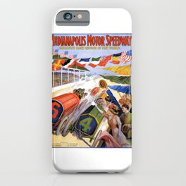 1909 Indianapolis Motor Speedway Advertising Poster iPhone Case