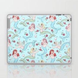 Mermaids and Roses on Aqua Laptop & iPad Skin