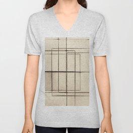 Toner Lines on Paper Unisex V-Neck