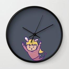 BUNNY KAKA BLACK Wall Clock