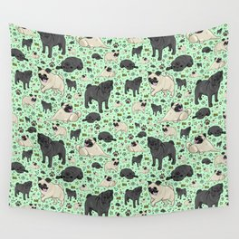 Pug Dog Pattern Wall Tapestry