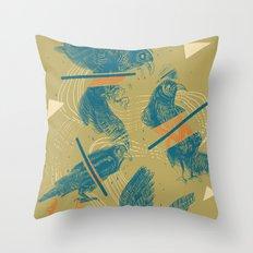 ravens comp Throw Pillow