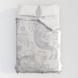 Japanese Tattoo Duvet Cover