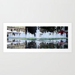 Daly Plaza Fountain Art Print