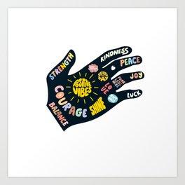 Positivity – Helping Hand Art Print