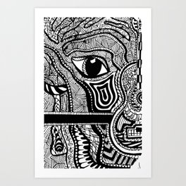 Face in Space Art Print