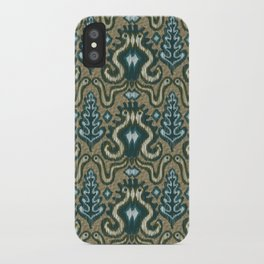 Slithering Snake Ikat iPhone Case