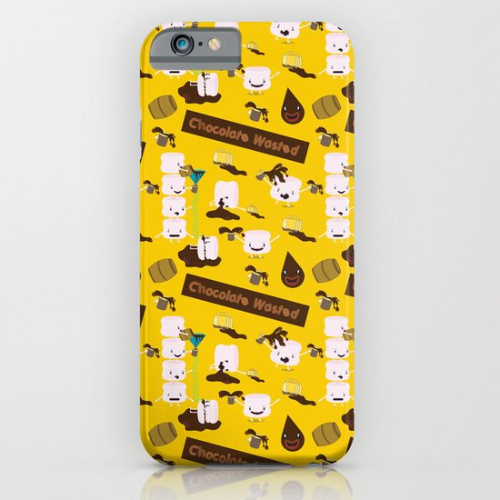 Chocolate Wasted (yellow) iPhone & iPod Case