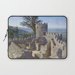 Portugal, Sintra, Castelo dos Mouros castle ramparts Laptop Sleeve
