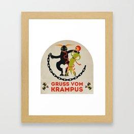 Gruss vom Krampus II Framed Art Print