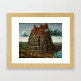 Pieter Bruegel the Elder - The Tower of Babel (Rotterdam) Framed Art Print