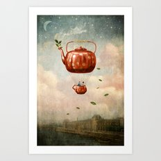 Tea for Two at Dusk Art Print