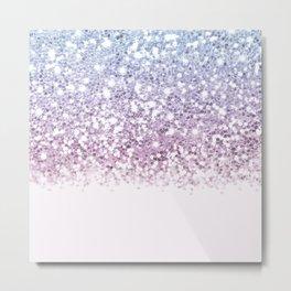 Sparkly Unicorn Glitter Ombre Metal Print