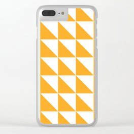 Geometric Pattern 01 Yellow Clear iPhone Case