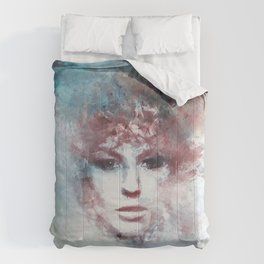 Girl face painting ART Comforters