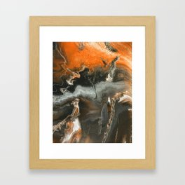 Orange Lightning Framed Art Print