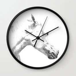 White Horse Profile Wall Clock