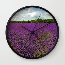 Lavender Landscape (Version 1)  Wall Clock